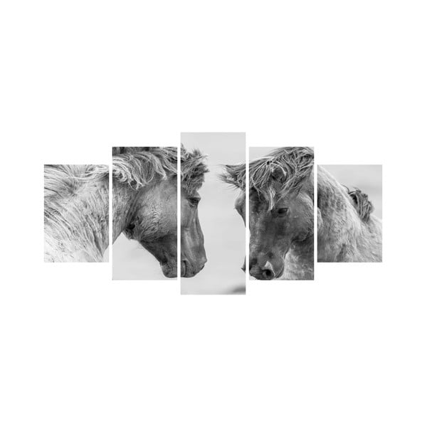 Wieloczęściowy obraz Black&White no. 57, 100x50 cm