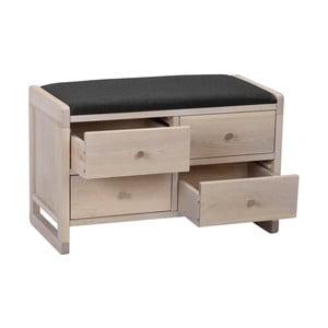 Matowa ławka dębowa z 4 szufladami Folke Gorgona