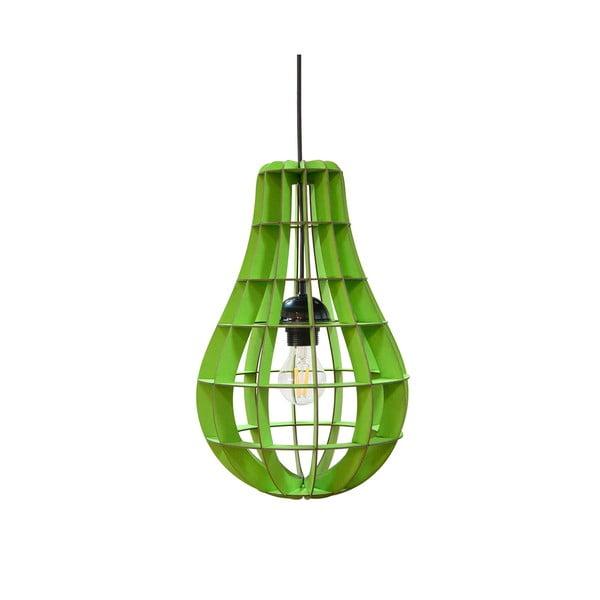 Lampa Bulbo, zielona