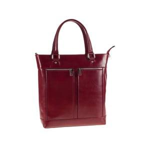 Skórzana torebka Ore Diece Albettone, czerwona