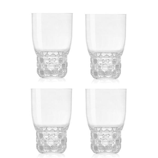Zestaw 4 przezroczystych szklanek Kartell Jellies, 400ml