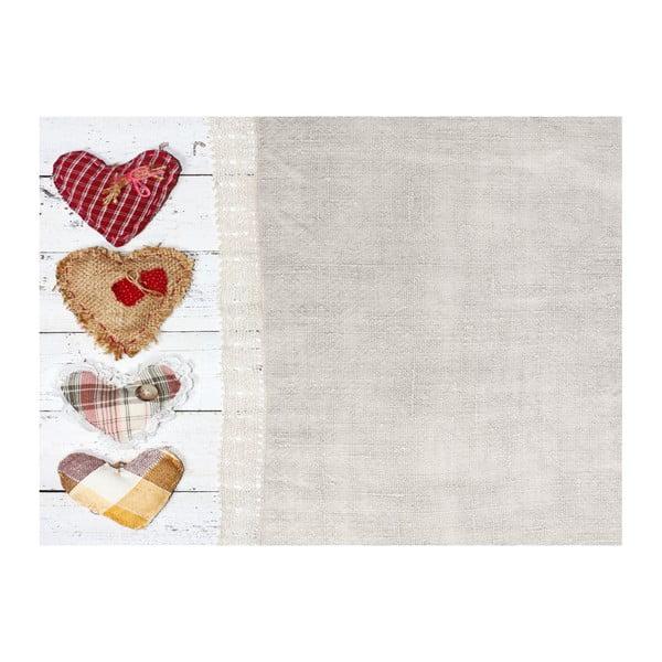 Winylowy dywan Shabby Corazones, 99x120 cm
