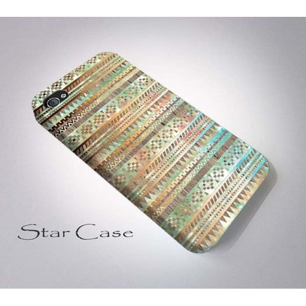 Etui na iPhone 5/5S Wood Tribal Beige