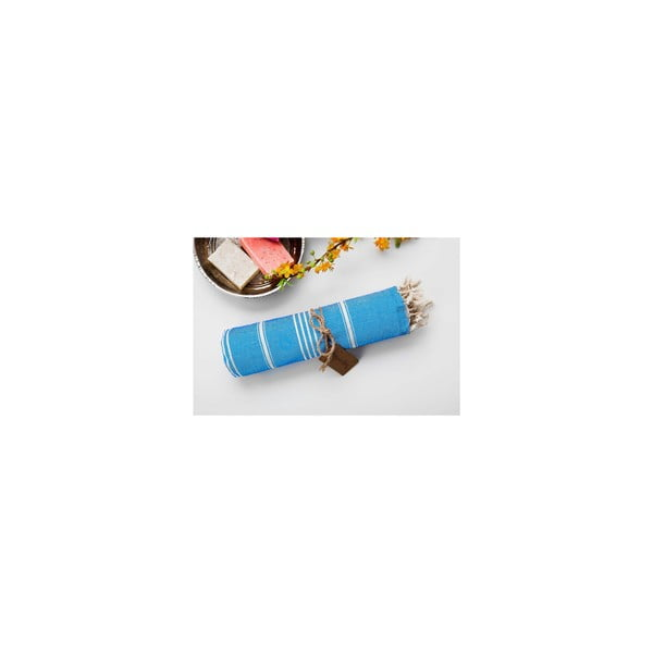 Ręcznik Hamam Sabba Turquoise, 100x180 cm