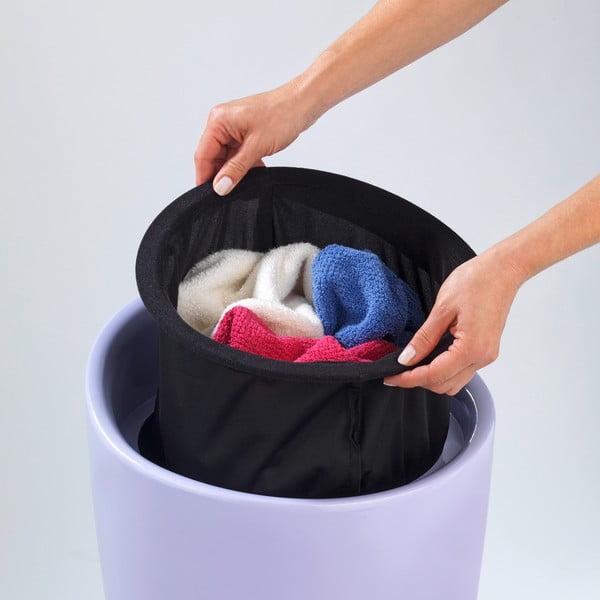 Fioletowy kosz na pranie itaboret wjednym Wenko Candy