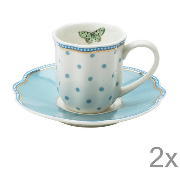 Porcelanowa filiżanka na espresso ze spodkiem Minitie Lisbeth Dahl, 2 szt.