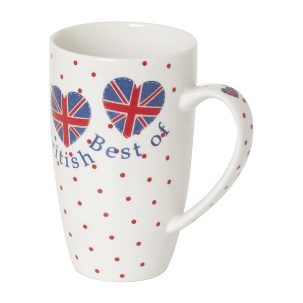 Kubek z porcelany kostnej Sabichi Best of British, 380 ml