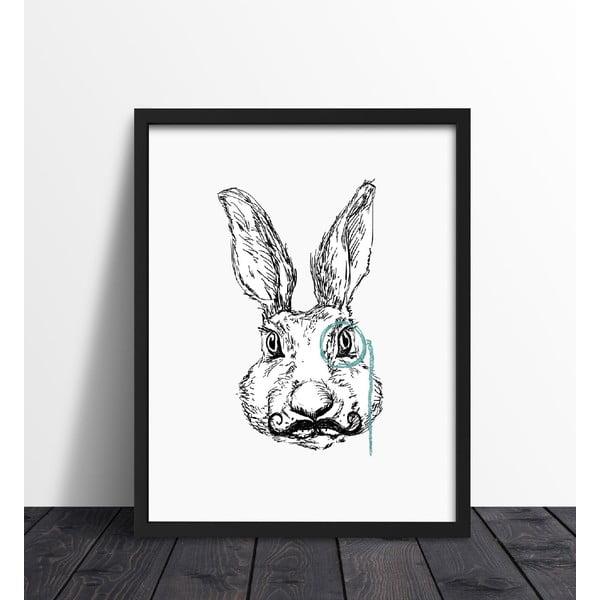 Plakat w ramie Hipster Rabbit, 30x40 cm