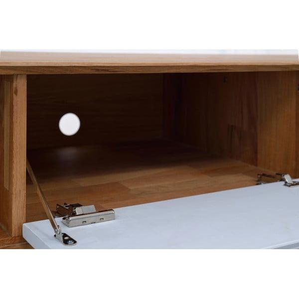 Dębowy stolik pod TV Ena, 180 x 55 x 45 cm