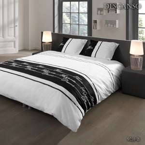 Pościel Descanso Textile White and Black, 140x200 cm