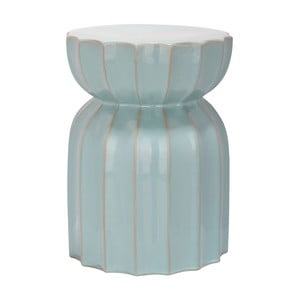 Stolik ceramiczny Sculpted Lotus Light Aqua