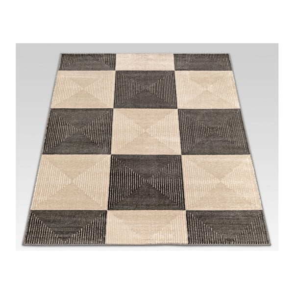 Dywan Webtappeti Reflex Brown Chess, 140x200 cm