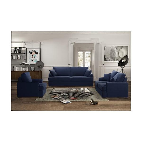 Trzyczęściowy komplet wypoczynkowy Jalouse Maison Irina, ciemnoniebieska