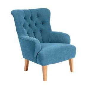 Niebieski fotel Max Winzer Brandon