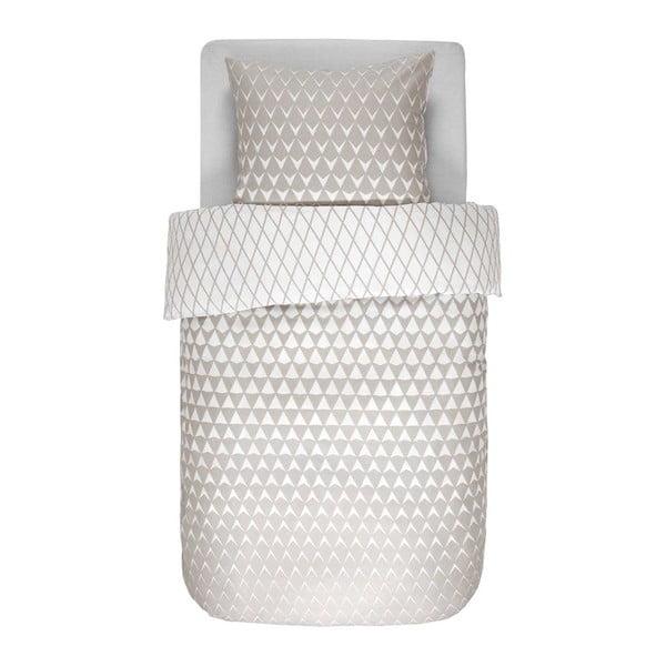 Beżowo-biała pościel Esprit Mina, 140x200 cm