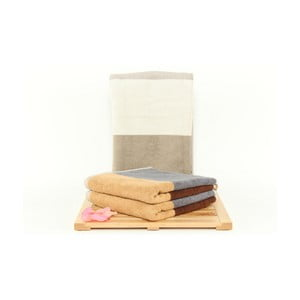 Zestaw 3 ręczników Felix Ivory, 50x100cm