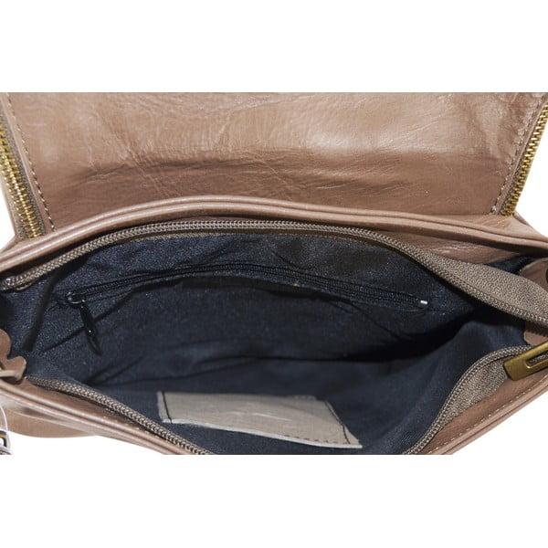 Skórzana torebka Celia, taupe (szarobrązowa)