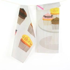 Komplet 2 ściereczek Cupcakes
