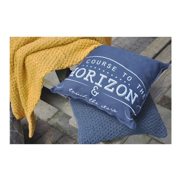 Granatowa poduszka Overseas Horizon, 45x45 cm