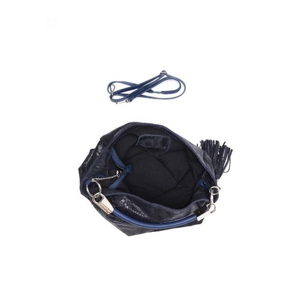 Skórzana torebka Classic 889 Blu Scuro
