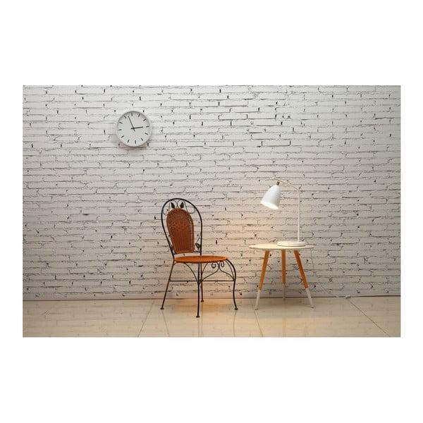 Biała lampa stołowa z marmurową podstawą Garageeight Mel