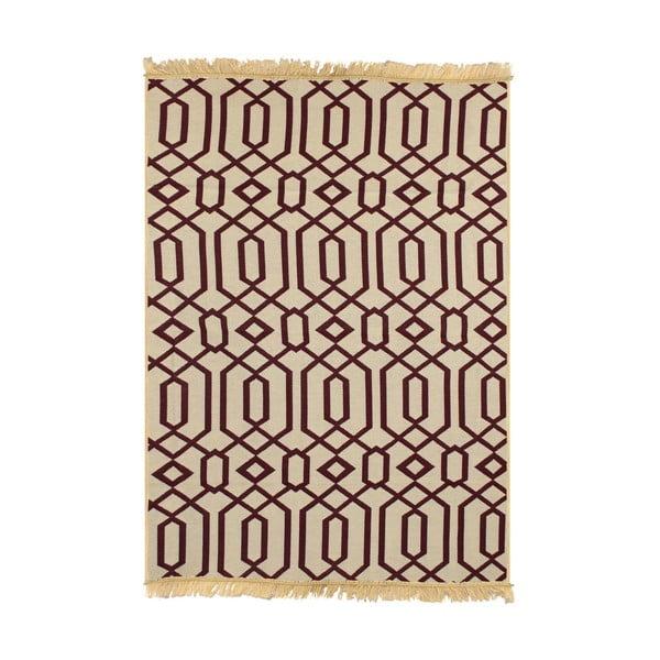 Bordowy dywan Ya Rugs Kenar, 80x150cm