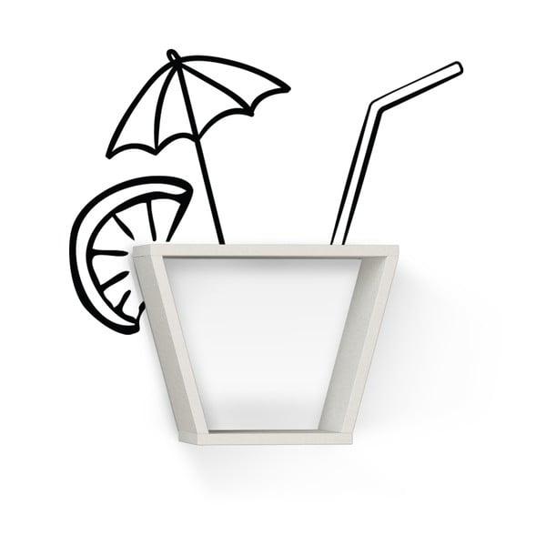 Półka z naklejką Cocktail White