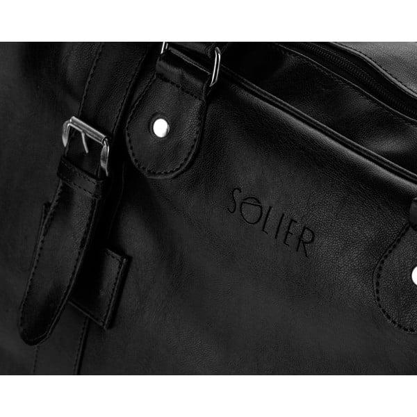 Torba męska Solier S16, czarna
