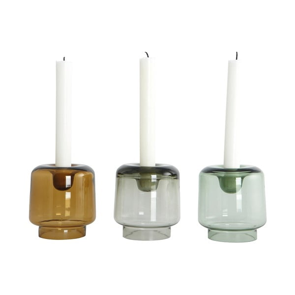 Komplet 3 świeczników Form Trio