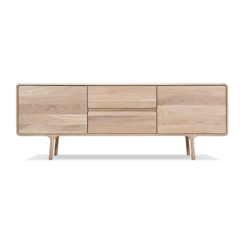 Szafka pod TV z litego drewna dębowego Gazzda Fawn