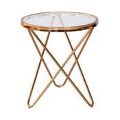 Szklany stolik RGE Melissa, Ø45 cm