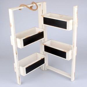 Składany stojak na doniczki z tablicą Garden, biały