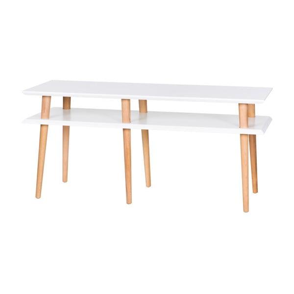 Biały stolik Ragaba Mugo, dł. 119 cm