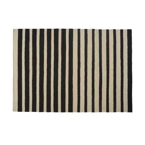 Wełniany dywan Toya Black, 160x230 cm