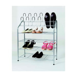 Czteropiętrowy stojak na buty z nakładką Compactor