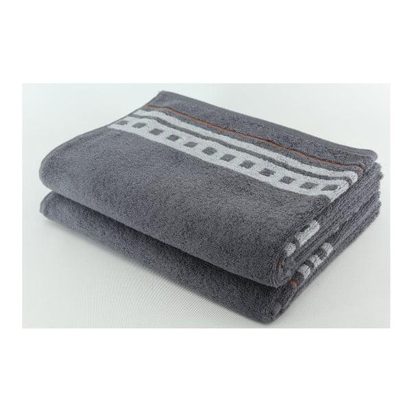 Zestaw 2 ręczników Clay Stone, 70x140 cm