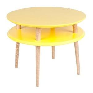 Żółty stolik Ragaba UFO, ⌀ 57 cm