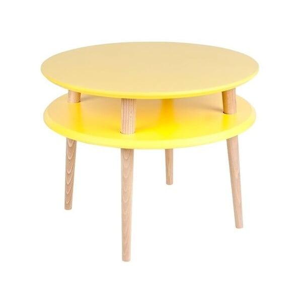 Żółty stolik Ragaba UFO, Ø 57 cm