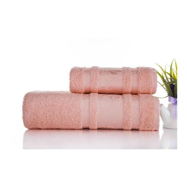 Zestaw 2 ręczników Carmen Coral, 50x90 i 90x150 cm