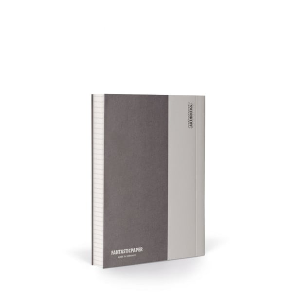 Notes FANTASTICPAPER A6 Stone/Warm Grey, w kratkę