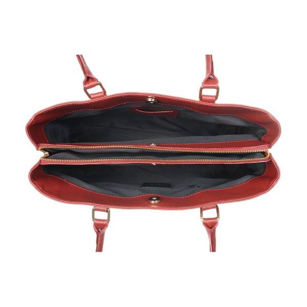 Skórzana torebka Big Mood Red