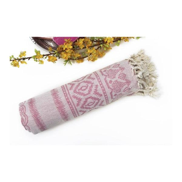 Ręcznik hammam Paisley Pink, 95x175 cm