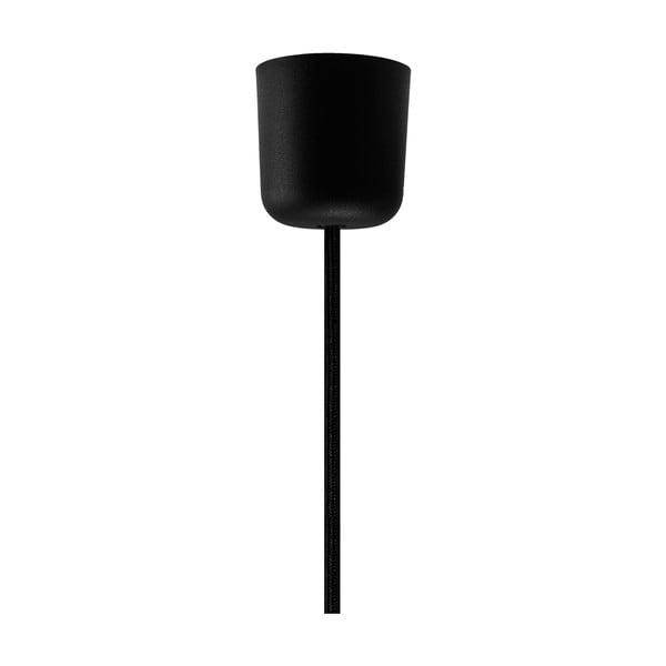 Czarny kabel wiszący w tekstylnym oplocie z oprawą żarówki w złotym kolorze Bulb Attack Uno