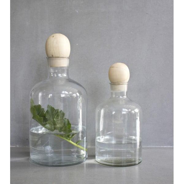 Szklana karafka z drewnianym korkiem Stories