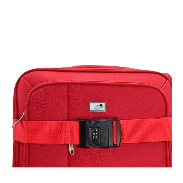 Czerwony pas spinający na walizkę z szyfrem Blue Star Access