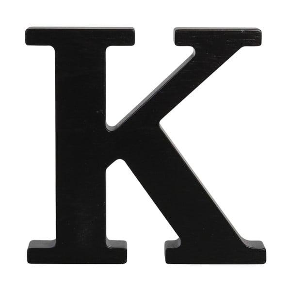 Czarna drewniana litera Typoland K