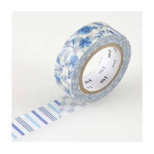 Taśma dekoracyjna washi Flower Dark Blue