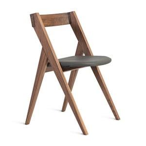 Krzesło z litego drewna orzechowego Charlie Pommier Garibaldi