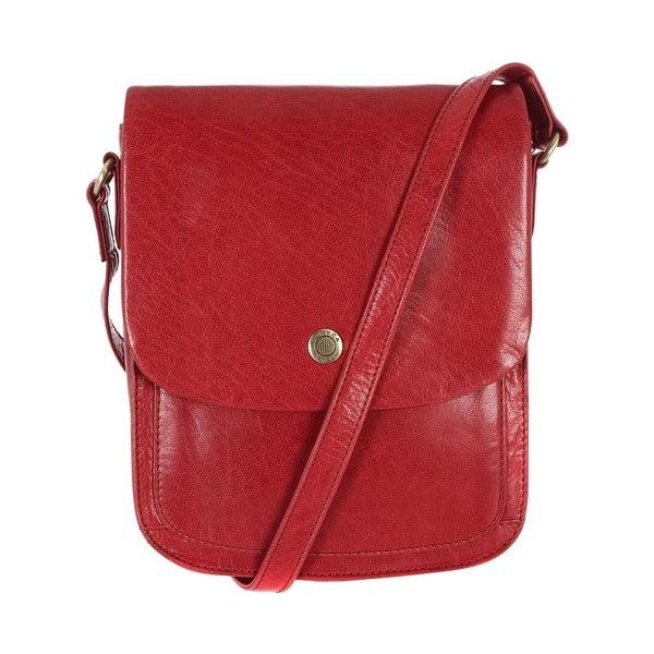 Damska torba skórzana Lucinda Cranberry