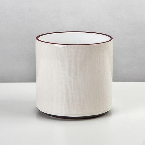 Ceramiczna osłona na doniczkę Jungle Krem, 19x21 cm